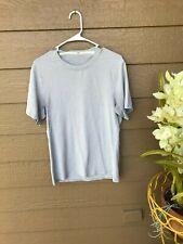 Lululemon Men's Metal Vent Tech Short Sleeve Shirt LIGHT GRAY TEE SZ S