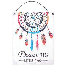 Dream Big Little One Child's Dreamcatcher Hanging Bedroom Nursery Metal Sign