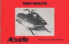 1976 ALOUETTE SNOWMOBILE  SNO-BRUTE  OWNERS OPERATORS MANUAL (109)