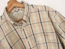 KU2153 Ben Sherman Camisa MANGA CORTA Top Beige Check Original Premium VINTAGE