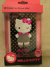 HELLO KITTY iPhone 4/4S Durable Shell Phone Case Cover Grey Dress NEW IN PACKAGE