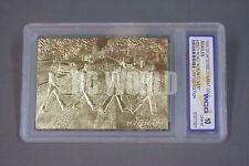 1996 BEATLES Abbey Road Album Cover  23KT GOLD CARD  Graded  GEM-MINT 10  #RK1