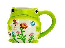 Floral Frog Coffee Mug by Boston Warehouse
