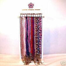 96 GLASS BEAD DAISY FLOWER NECKLACE jewelry hippie BULK LOT counter display rack