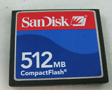 SanDisk 512MB Compact Flash Memory Card Used Working