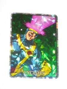 1992 MARVEL MASTERPIECES CYCLOPS #13 VENDING MACHINE STICKER! PRISM! X-MEN