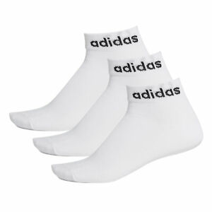 adidas Low Cut Ankle Exercise Fitness Sport Socks White (3 Pack) - UK 8.5-10