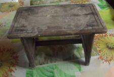 Ancien Petit Repose pied bois 1910 Vintage 30 x 18,5 x 16 cm