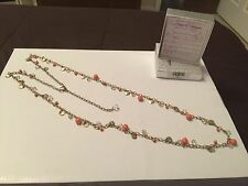BEAUTIFUL PREMIER DESIGNS TANGERINE GOLD NECKLACE RV $52 - NEW WITH TAGS & BOX