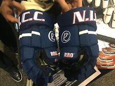 NICC Pro Version Hockey Gloves with replaceable Palm technology Navy & White.