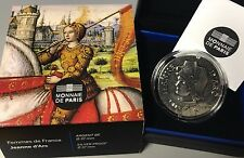 France 2016 Jeanne d' Arc 10 euro Silver Historical Femmes de France €