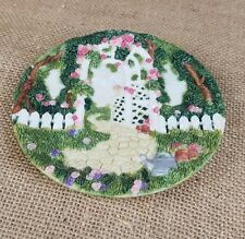Vintage Popular Imports miniature plate garden roses home decor