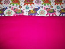 #227 Hot Pink SOLID New flannel fabric BTY for solid color only!