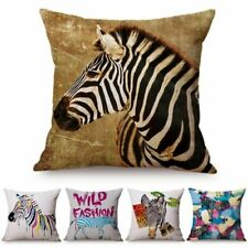 Zebra Cushion Cover Colorful Pillow Case Painting Animal Pillow Covers Bedroom