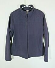Merona Womens Fleece Jacket Size M Plum Purple Zip Up Diamond Quilted Pattern
