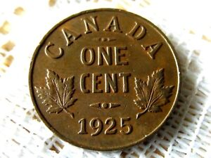 1925 CANADIAN SMALL CENT * EARLY CANADA COIN *
