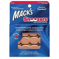 Mack's #2188 Snoozers Silicone Putty Earplugs 6 Pair