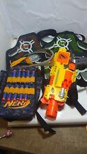 2x Nerf Dart Tag Black Orange Green Target Vest - gun glasses amo pouch