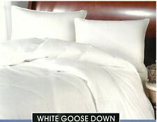 New QUEEN White GOOSE Down Comforter, 100% Cotton Cover, 260 Thread Count