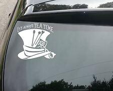 LARGE Wonderland Tea Time Mad Hatter Car/Window JDM VW EURO Vinyl Decal Sticker
