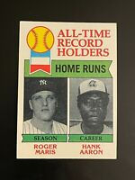 1979 Topps All-Time Record Holders Roger Maris Hank Aaron #413 Yankees Braves