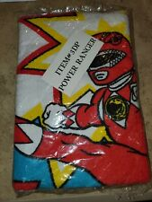 NOS Vintage Mighty Morphin Power Rangers  Beach Towel & 3 Pc Pencil Set