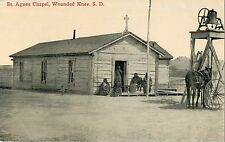 Closeup View of St Agnes Chapel, Wounded Knee SD
