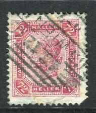 Austria; 1904 Early F. Joseph problema fine utilizzato 72 H. Value + BARRE su carta