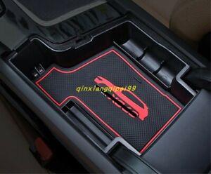 For Volvo XC60 2018-2019 ABS Interior Black Armrest Storage Box Holder Trim