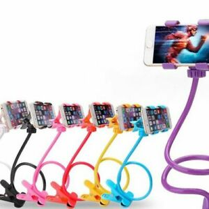 Universal Lazy Android Mobile Phone Clip Holder GPS Desk Bed Stand Bracket 360