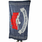 Be As You Are Beer Pong League Blue Beach Bath Towel Red Plastic Cups Ball NEW