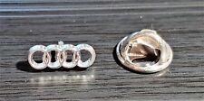 Audi Pin Ringe silbern 15x5mm ORIGINAL