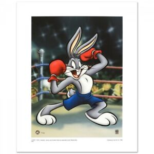L@@K! Looney Tunes Boxer Bugs Bunny LE Giclée from WB 88/500 Toon Art Lithograph