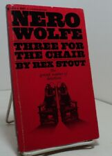 Three for the Chair by Rex Stout - Bantam F3120 - 1976  - Nero Wolfe