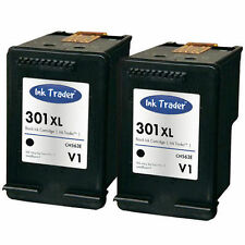 2x HP 301XL Black Remanufactured Ink Cartridges Latest V1 for HP Envy 5530