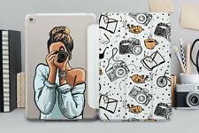 Cute Girl iPad 6 Smart Cover Camera iPad Air 2 3 Case iPad 11 12.9 2018 Folio
