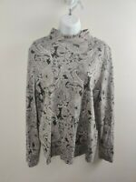 Women's Kim Rodgers Top Blouse Size L Large Long Sleeved Multicolor Free Shippin