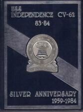 1983/84 SILVER ANNIVERSARY DEPLOYMENT CRUISE BOOK USS INDEPENDENCE CV-62 VGC