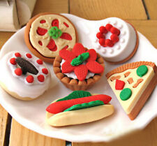 2Pcs/Lot Random Rubber Eraser Stationery Cake Shaped Kids School Supplies Gift