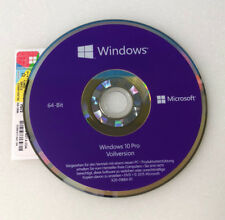 MS Microsoft Windows 10 Pro 64 Bit DVD Hologramm + Win 10 Pro Lizenz Key COA OEM