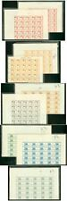 Haiti 1954 Citadel imperf PROOF SHEETS of 50 (x7)