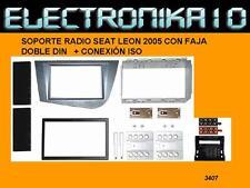 Soporte  radio SEAT LEON 2005+ KIT CONEXION SEAT-ISO 2DIN +KIT FAJA SOPORTE