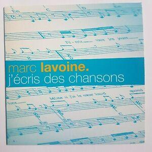 MARC LAVOINE -  PROMO DE GOLDMAN - J'ECRIS DES CHANSONS ♦ CD SINGLE ♦
