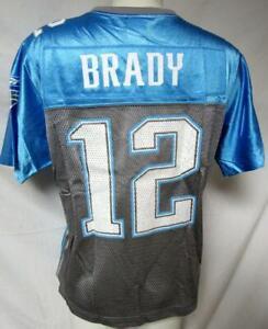 New England Patriots Women Large Reebok Screened Tom Brady #12 Jersey A1 2730