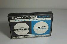One Sony C-120 Plus II 2 High Fidelity Cassette Tape from Japan