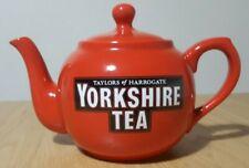 More details for taylors of harrogate red/ orange yorkshire tea teapot - unused, mint condition