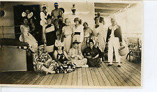 Bal Travesti à bord du navire Belle Isle  Vintage silver print.  Tirage argent