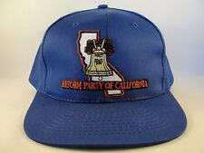 Reform Party of California Vintage Snapback Hat Cap Blue