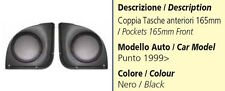 COPPIA TASCHE ANTERIORI PER FIAT PUNTO DAL 1999 AL 2005 165MM COLORE NERO
