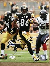 Hines Ward Pittsburgh Steelers Signed 8x10 Photo JSA Cert